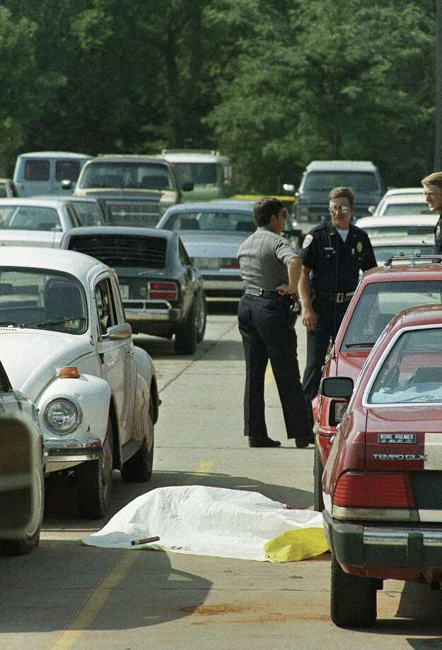 Pat Sherrill, 44, a postal worker who was about to be fired, shot 14 people at a post office. He then killed himself. Photo: Steve Gooch, ASSOCIATED PRESS / AP1986