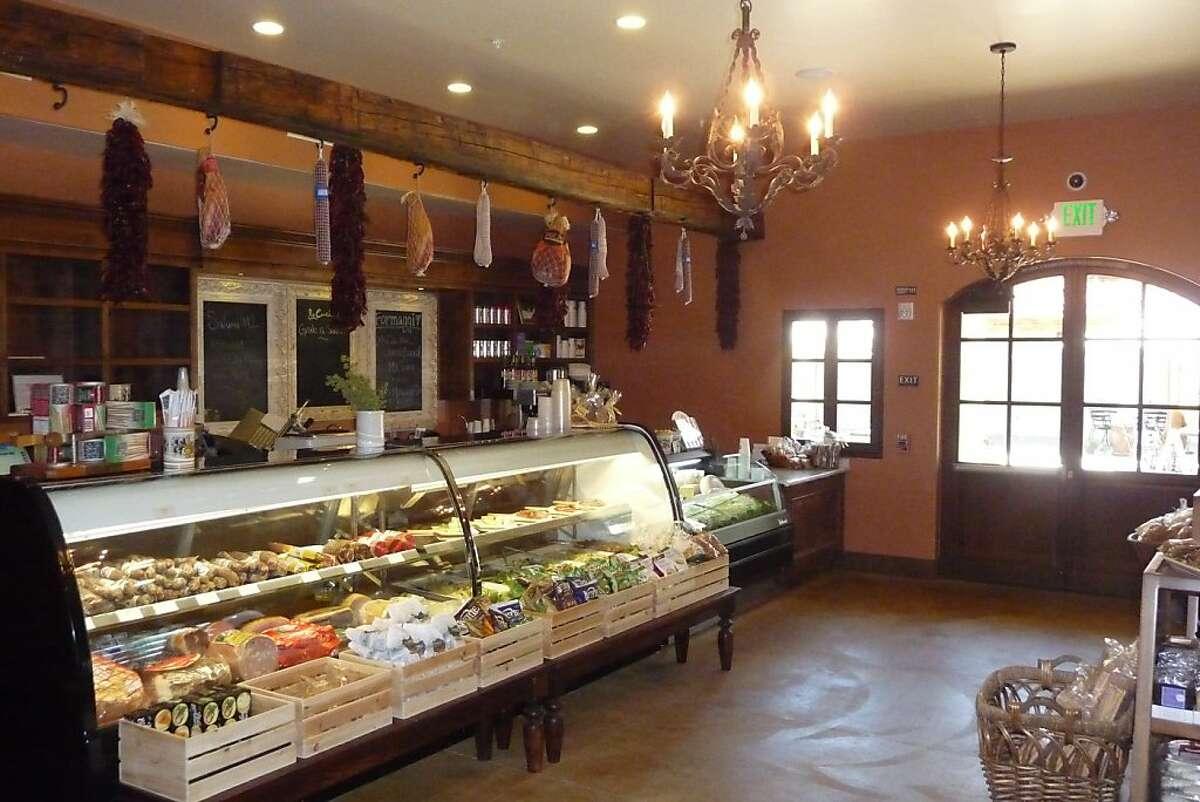 The tasting room marketplace piazza at VJB Cellars