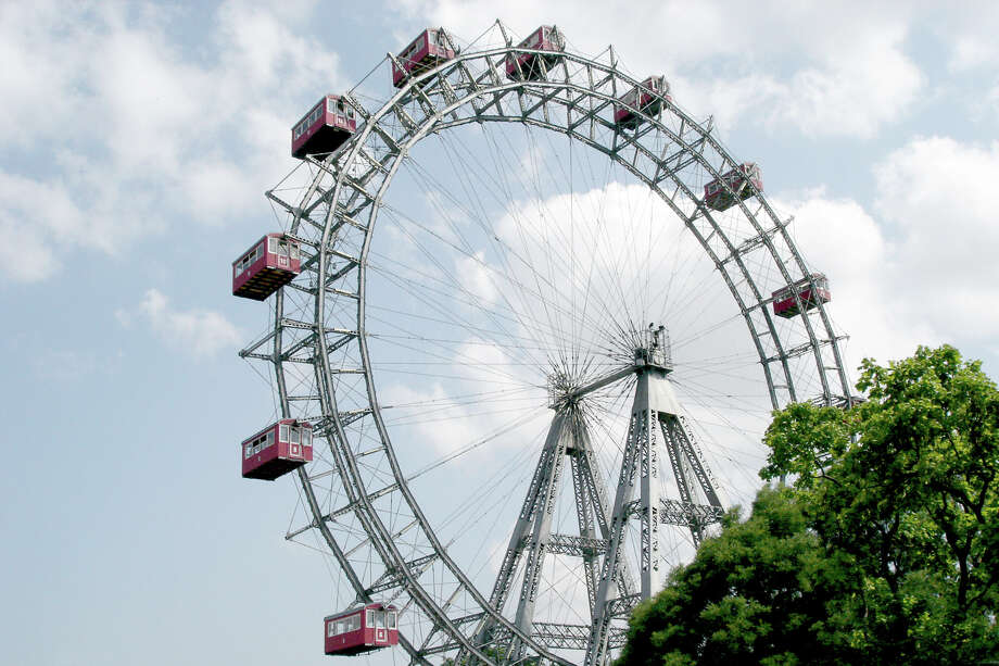 Built in 1897, the monumental Ferris wheel in Prater Park is one of Vienna's most recognizable symbols. Photo: Rick Steves, Ricksteves.com