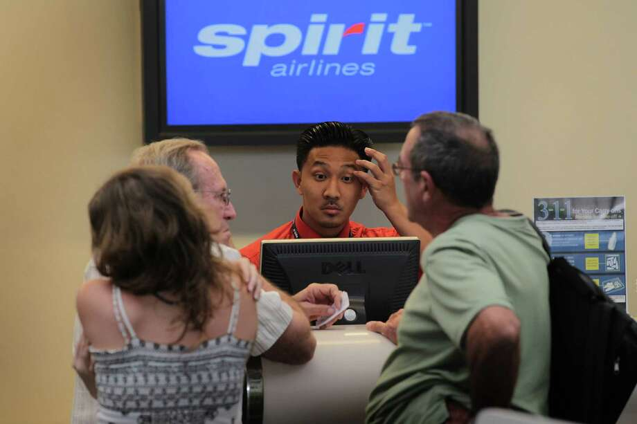 5. Spirit Airlines, 10 percent. Spirit is the opposite of Southwest when it comes to bags. Not only does it charge for checked bags, but the fee is even higher for a carry-on. At least that helps keep the cabin less crammed. Photo: Joe Raedle, Getty Images / 2010 Getty Images