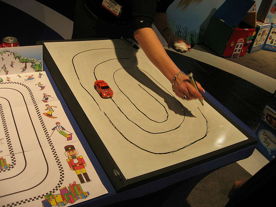 Doodle-Track Car. Who needs to build a Hot Wheels track on the carpet? This $17.95 toy works in a deceptively simple fashion. The kid draws the track; the car follows. Nancy Johnson Horn/Flickr Creative Commons