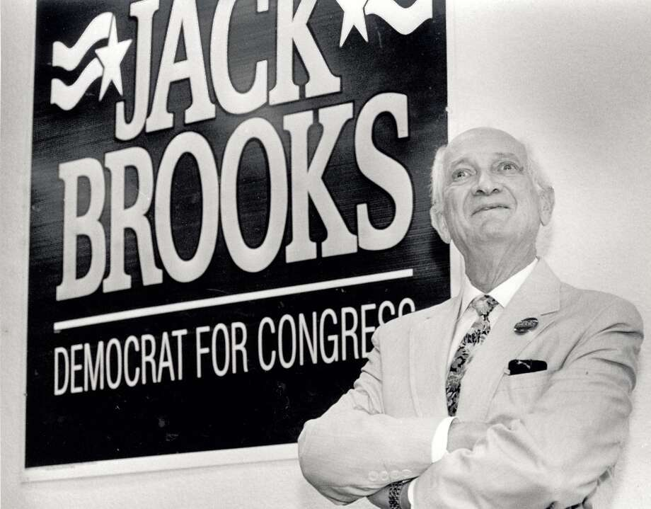 Jack Brooks during his 42 year of congress at his campaign headquarters at 310 North 11th Street in Beaumont. Photo was taken in 1994 (Beaumont Enterprise)