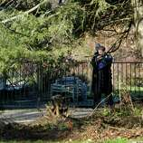The Stamford Police check out a home on Bartina Lane in Stamford, Conn. belonging to Peter Lanza the father of Ryan Lanza who is the alleged shooter at Sandy Hook Elementary School in Newtown,  Conn on Friday December 14, 2012 where 26 were killed including 20 children