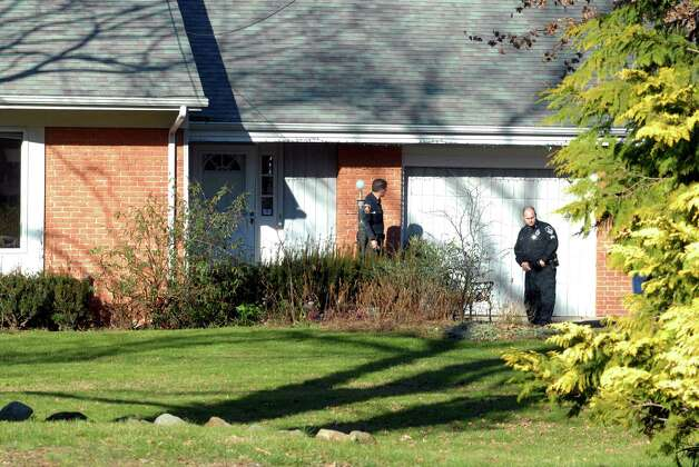 The Stamford Police check out a home on Bartina Lane in Stamford, Conn. belonging to Peter Lanza the father of Adam Lanza who is the alleged shooter at Sandy Hook Elementary School in Newtown,  Conn on Friday December 14, 2012 where 26 were killed including 20 children Photo: Dru Nadler / Stamford Advocate Freelance
