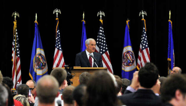 Presidential candidate Ron Paul speaks during the Minnesota Republican State Convention Friday, May 18, 2012, in St. Cloud, Minn. Photo: Dave Schwarz, Associated Press / ST. CLOUD TIMES