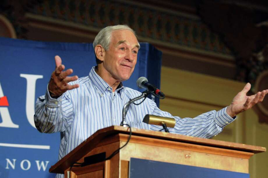 Ron Paul speaks at Soldier & Sailors Memorial Hall Friday night, April 20, 2012 in Pittsburgh, Pa. Photo: Bill Wade, Associated Press / Pittsburgh Post-Gazette
