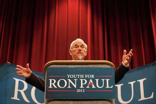 Ron Paul talks with voters in his bid for the Republican presidential nomination at the Will Rodgers Memorial Center in Fort Worth, Texas, on Wednesday, April 11, 2012. Photo: Stephen A. Masker, McClatchy-Tribune News Service / Fort Worth Star-Telegram