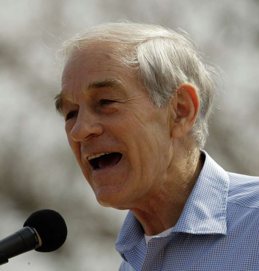 Ron Paul talks to supporters during a rally at the University of Missouri Thursday, March 15, 2012, in Columbia, Mo. Photo: Charlie Riedel, Associated Press / AP