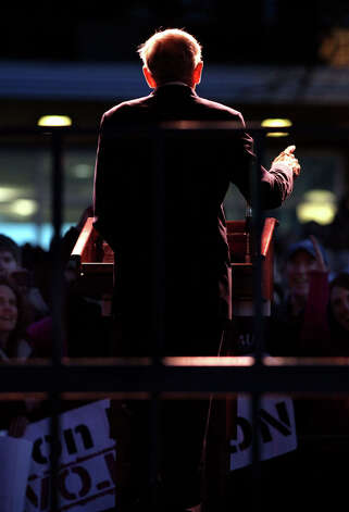 Ron Paul speaks at a campaign event at the University of Wisconsin campus in Madison, Wis., on Thursday, March 29, 2012. Photo: Craig Schreiner, Associated Press / Wisconsin State Journal