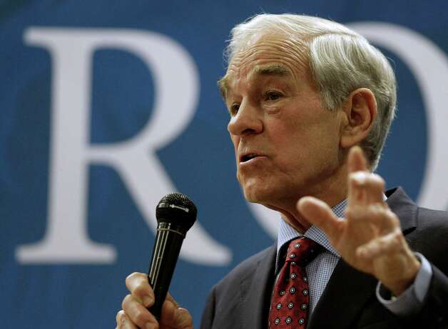 Ron Paul talks to supporters during a rally on Saturday, March 10, 2012, in Springfield, Mo. Photo: Charlie Riedel, Associated Press / AP