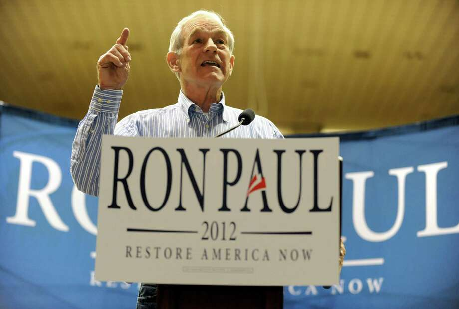 Ron Paul speaks to an enthusiastic crowd of supporters  inside the University Center on the Southeastern Louisiana University campus in Hammond, La. Friday, March 23, 2012. Photo: Richard Alan Hannon, Associated Press / The Advocate