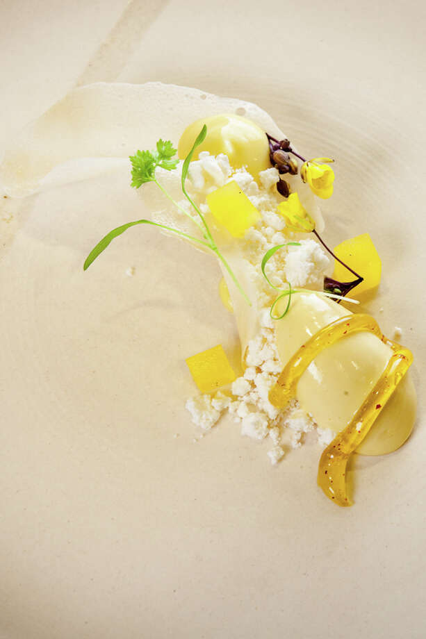 Dessert: Passion fruit, coconut, white chocolate (Creel Films)