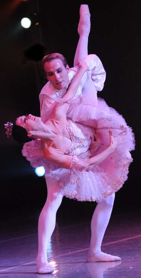 "Olga Pavlova and Yevgeni Anfinogenov appear in Mejia Ballet International's ""Nutcracker."" Courtesy Greg Harrison"