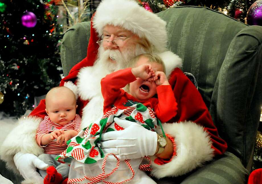 One for the 'naughty' column:Santa maintains a Zen-like calm as Christmas merriment dissolves into bedlam at the Chambersburg (Pa.) Mall. Photo: Ryan Blackwell, Associated Press