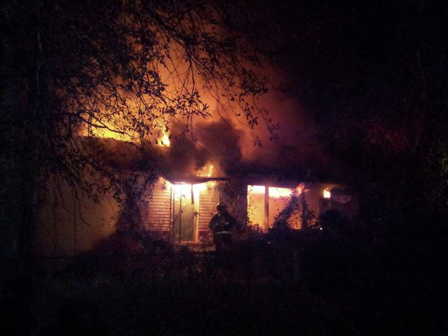 Fire broke out at an abandoned house in Silsbee Thursday night. Photo: David Lisenby