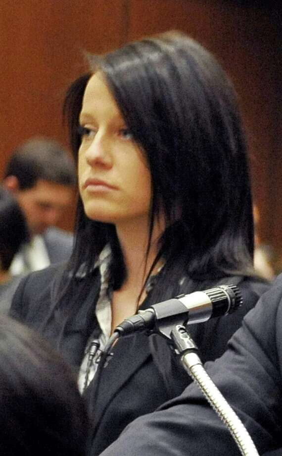 FILE - This Dec. 2, 2009 file photo shows Courtney Leigh Ames, 19, appearing in court in Los Angeles. Ames pleaded no contest Friday Dec. 14, 2012 to receiving a jacket stolen from heiress Paris Hilton. (AP Photo/Nick Ut, file) Photo: Nick Ut