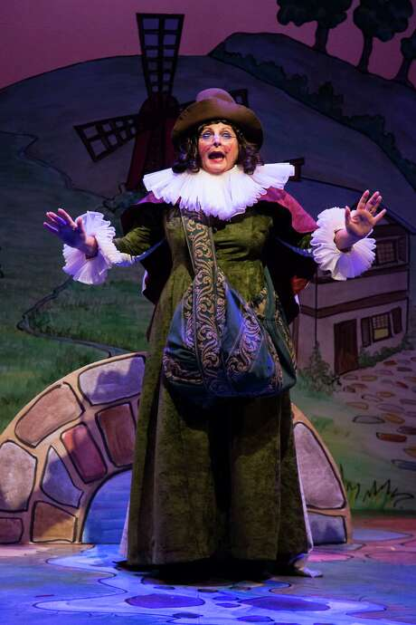 "Mother Goose, played by Genevieve Allenbury, is ready to leave her fairy-tale life behind in ""Panto Mother Goose."" Photo: Bruce Bennett, Freelance Photographer / Bruce Bennett 2012 and beyond"