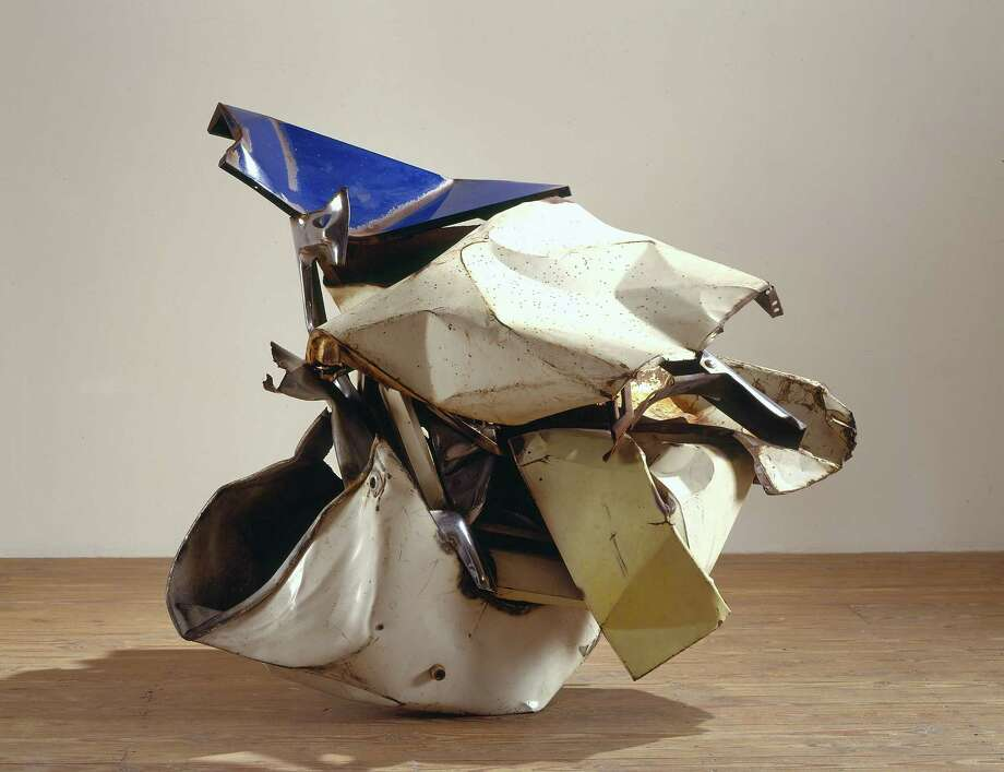 """Nanoweap"" and other newly restored works by John Chamberlain, first shown in 1987, are on view through Jan. 13 at the Menil Collection. Photo: Menil Collection"