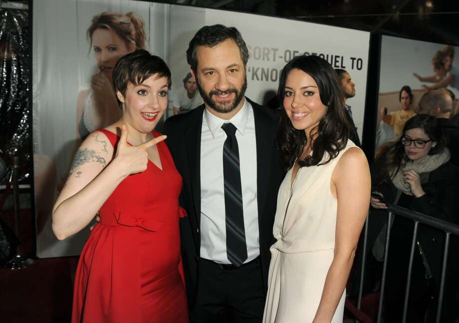 Actress Lena Dunham, director Judd Apatow and actress Aubrey Plaza attend the premiere of Universal Pictures' This Is 40 at Grauman's Chinese Theatre on December 12, 2012 in Hollywood, California.  (Photo by Kevin Winter/Getty Images) (Getty Images)