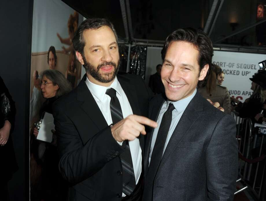 Director Judd Apatow and actor Paul Rudd attend the premiere of Universal Pictures' This Is 40 at Grauman's Chinese Theatre on December 12, 2012 in Hollywood, California.  (Photo by Kevin Winter/Getty Images) (Getty Images)