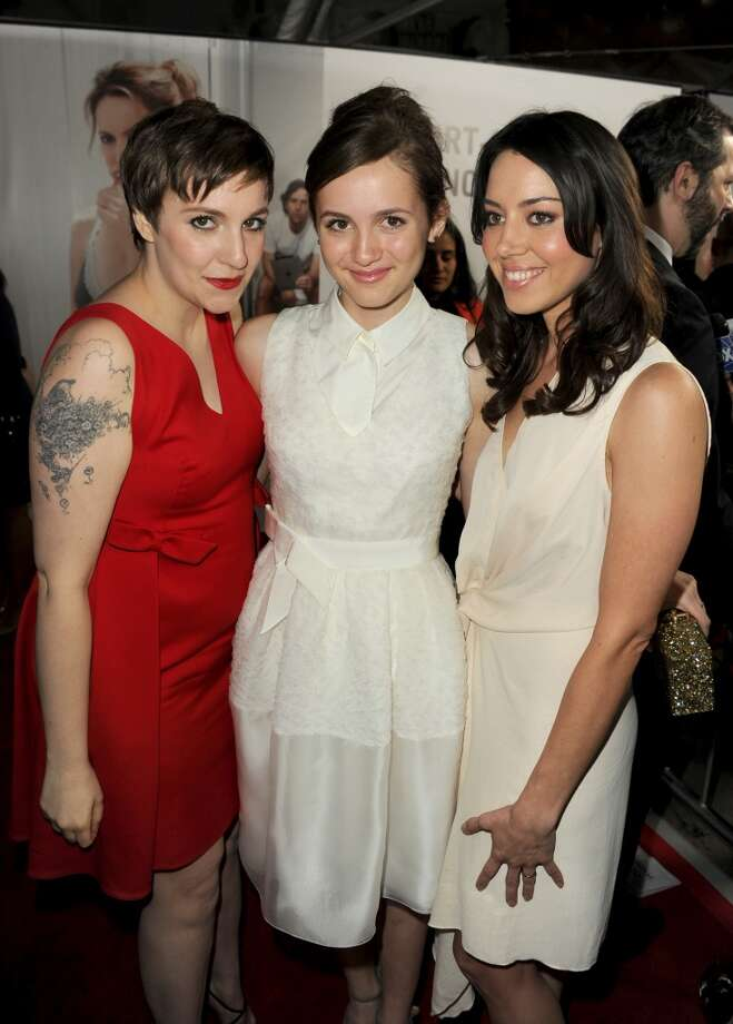 Actors Lena Dunham, Maude Apatow and Aubrey Plaza attend the premiere of Universal Pictures' This Is 40 at Grauman's Chinese Theatre on December 12, 2012 in Hollywood, California.  (Photo by Kevin Winter/Getty Images) (Getty Images)