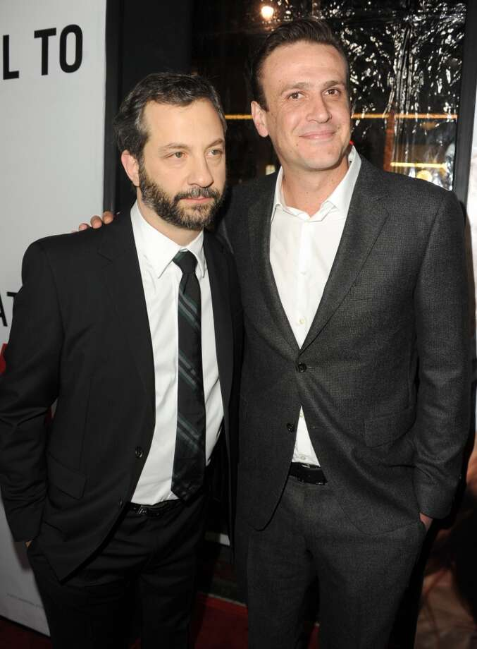 Director Judd Apatow and actor Jason Segel attend the premiere of Universal Pictures' This Is 40 at Grauman's Chinese Theatre on December 12, 2012 in Hollywood, California.  (Photo by Kevin Winter/Getty Images) (Getty Images)