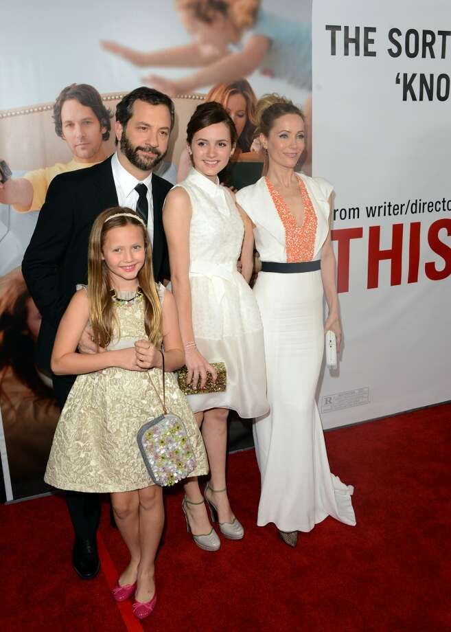 Actress Iris Apatow, director Judd Apatow, Maude Apatow and Leslie Mann attend the premiere Of Universal Pictures' This Is 40 at Grauman's Chinese Theatre on December 12, 2012 in Hollywood, California.  (Photo by Jason Merritt/Getty Images) (Getty Images)