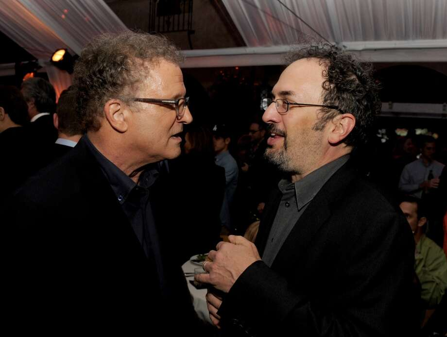 Actors Albert Brooks (L) and Robert Smigel pose at the after party for the premiere of Universal Pictures' This is 40 at The Roosevelt Hotel on December 11, 2012 in Los Angeles, California.  (Photo by Kevin Winter/Getty Images) (Getty Images)