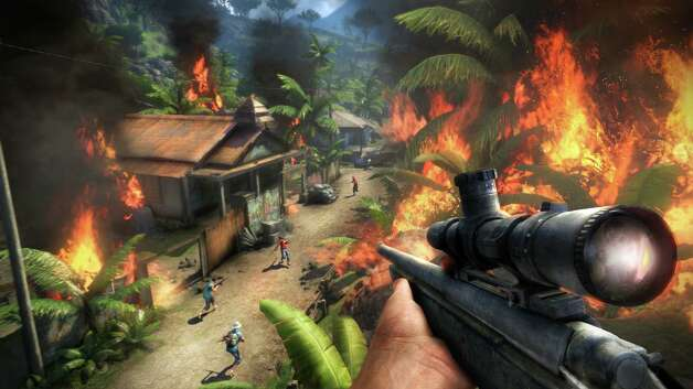 Far Cry 3  by Ubisoft retails for $60 for Xbox 360 and PS 3; $50 for PC   Plays decently fun. Looks very good. Moderately challenging. Rated  M  for blood, gore, intense violence, nudity, strong language, strong sexual content and use of drugs. Three out of four stars. Photo: Ubisoft