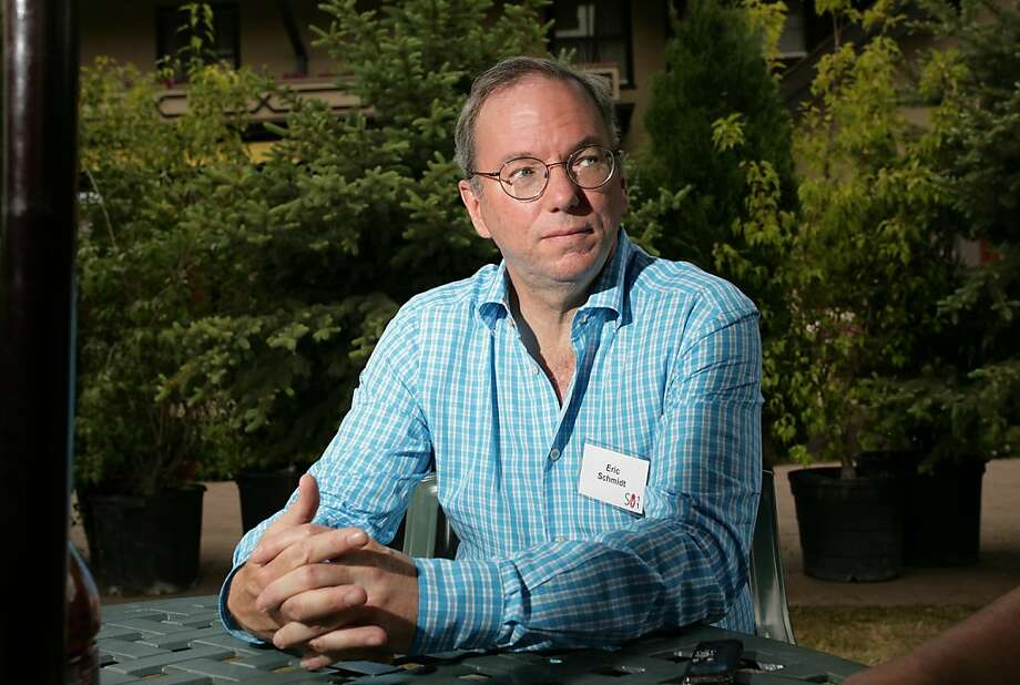 Google Chairman Eric Schmidt says the Mountain View company is clearly winning the smartphone OS war. Photo: Matthew Staver, Bloomberg