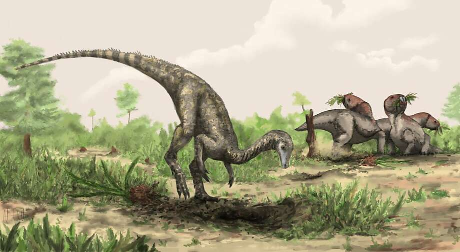 A rendering of Nyasasaurus parringtoni, either the earliest dinosaur or the closest dinosaur relative yet discovered. Its fossil was found in eastern Africa. Photo: Mark Witton, ©Natural History Museum, London