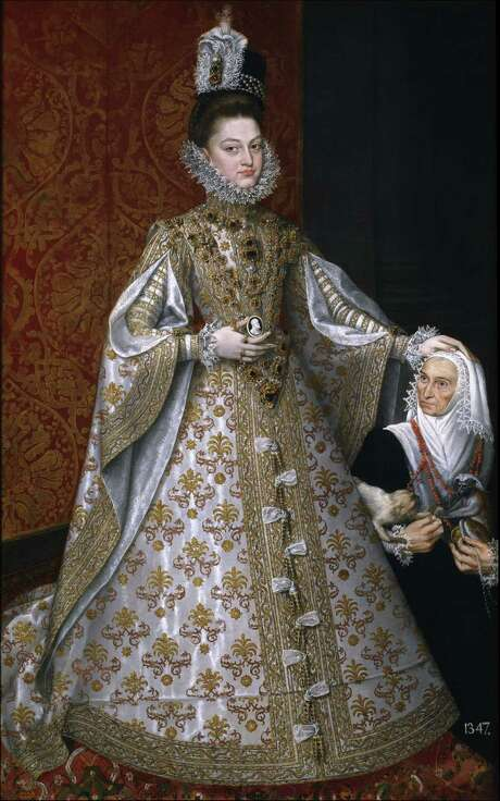 """From """"Portrait of Spain: Masterpieces from the Museo Nacional del Prado,"""" on view at the Museum of Fine Arts, Houston Dec. 16 - March 31: Alonso S nchez Coello, Spanish, c. 1531 1588 The Infanta Isabel Clara Eugenia (1566 1633) with the Dwarf, Magdalena Ruiz c. 1585 88 Oil on canvas Museo Nacional del Prado, Madrid Photo: Museo Nacional Del Prado"""