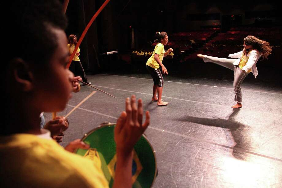 Students take part in Kid's Day at the Wortham Center, a program sponsored by a division of HCDE. Photo: Mayra Beltran, HC Staff / Houston Chronicle