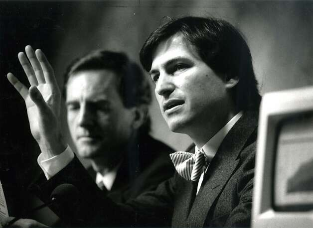 John Sculley (left), who served as CEO of Apple for a decade, now invests in health care startups run by those he likens to Steve Jobs, Apple's visionary co-founder who died last year. Photo: Chris Stewart, The Chronicle