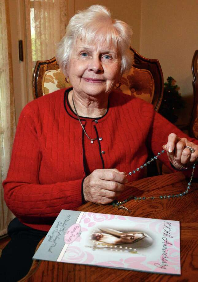 Marion Janowska Jaffarian in her Latham home Wednesday Dec. 12, 2012.  (John Carl D'Annibale / Times Union) Photo: John Carl D'Annibale / 00020438A