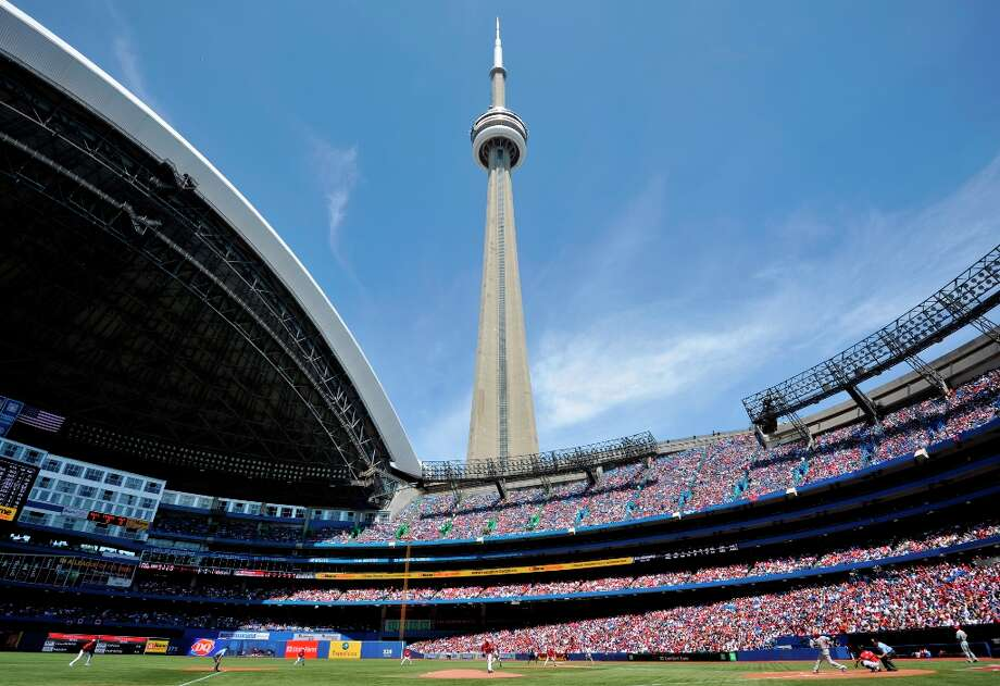 Baseball fans may have noticed that this list left off a stadium: Rogers Centre, home of the Toronto Blue Jays. Trulia apparently doesn't do Canada. Photo: Brad White, Getty Images / 2011 Getty Images