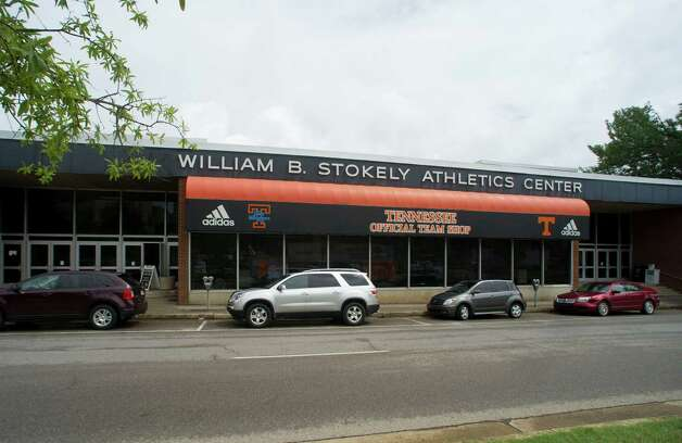 This July 11, 2012 photo shows the front of the Stokely Athletics Center in Knoxville, Tenn. The building that served as Tennessee's home basketball court during the 1960s and 1970s is about to close its doors. A full use for all the land currently occupied by Stokely hasn't been decided. (AP Photo/Knoxville News Sentinel, Saul Young) Photo: Saul Young