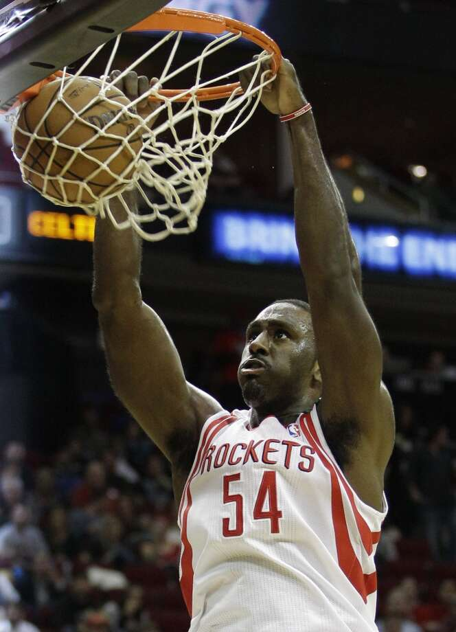 Dec. 14: Rockets 101, Celtics 89Rockets forward Patrick Patterson dunks the ball against the Celtics. (Melissa Phillip / Houston Chronicle)