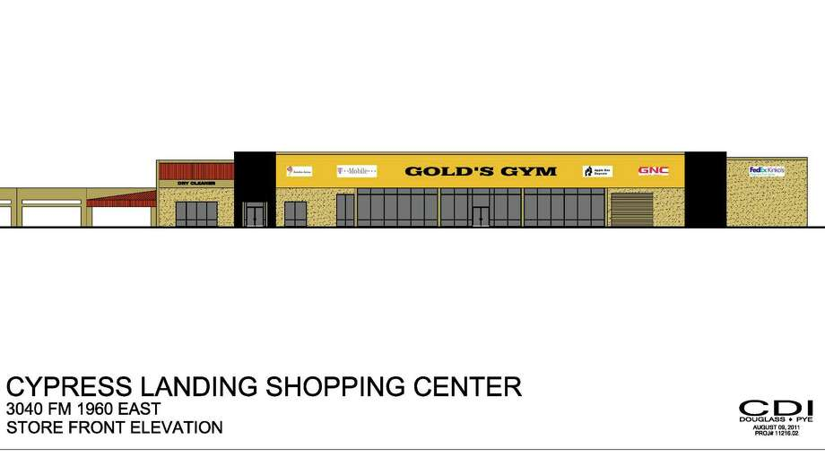 Gold s Gym has leased 28,193 square feet in Cypress Landing Shopping Center at FM 1960 and Aldine Westfield in north Houston. Photo: Courtesy Rendering