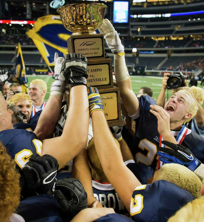 Stephenville players celebrate following their victory. Photo: Smiley N. Pool, Houston Chronicle / © 2012  Houston Chronicle
