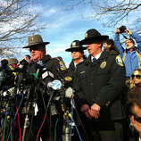 Connecticut State Police Lt Paul Vance leads a press conference at Treadwell Park in Newtown, Conn. on Saturday Dec. 15, 2012.