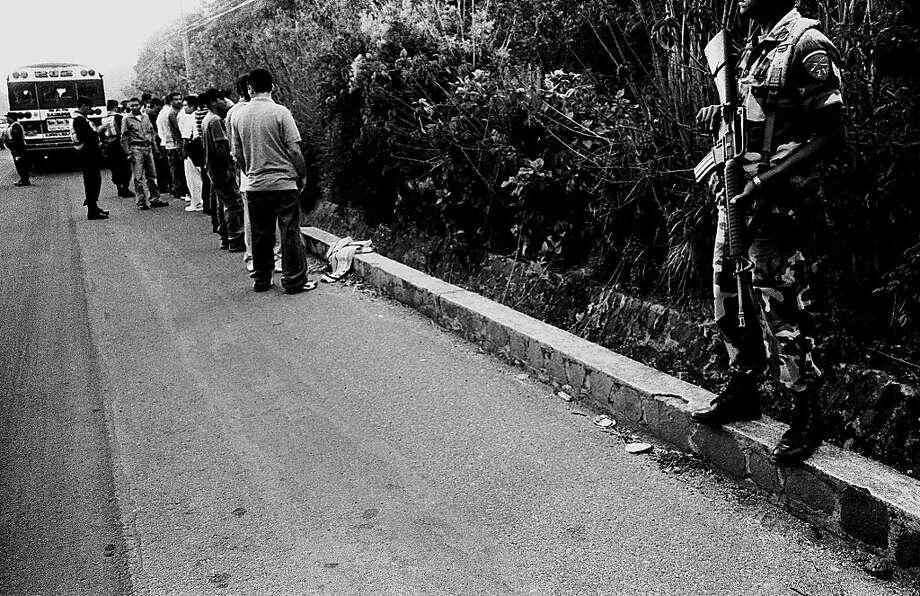Bus search. Photo: Juan Carlos
