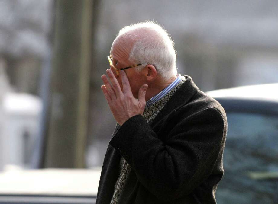 Dr. Steve Wruble, a trauma psychiatrist from NJ, wipes a tear from his eye while reflecting on yesterdayâÄôs tragedy at Sandy Hook Elementary School, Saturday morning Dec. 15, 2012, in Newtown, Conn. Twenty-seven people including 20 children were killed by a lone gunman yesterday at the school. Photo: Will Waldron, Hearst Connecticut Newspapers/Wi / The News-Times