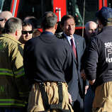 U.S. Senator Richard Blumenthal visited the firehouse in Sandy Hook Saturday, Dec. 15, 2012. 28 people including 20 children were killed when a gunman opened fire at the Sandy Hook Elementary School in Newtown, Conn. Friday.