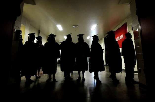 Lamar University conferred nearly 1,200 degrees on Saturday, December 15, 2012, during the fall commencement in the Montagne Center.   Photo taken: Randy Edwards/The Enterprise