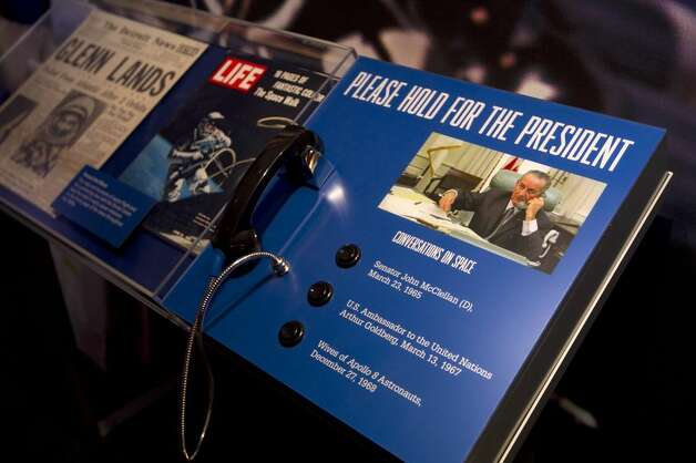Lyndon Johnson's recorded telephone calls are incorporated into new exhibits about his presidency on the fourth floor of the library. Photo: Austin American-Statesman / © AUSTIN AMERICAN-STATESMAN