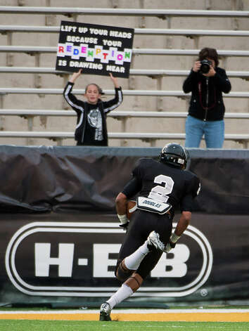 Cibolo Steele defensive back Jordan Sterns (2) heads for the end zone on a touchdown run during the fourth quarter against Katy in a Class 5A Division II state high school football semifinal game at Floyd Casey Stadium on Saturday, Dec. 15, 2012, in Waco.  Katy won the game 45-33. (Smiley N. Pool / Houston Chronicle ) Photo: Smiley N. Pool, Express-News / © 2012  Houston Chronicle