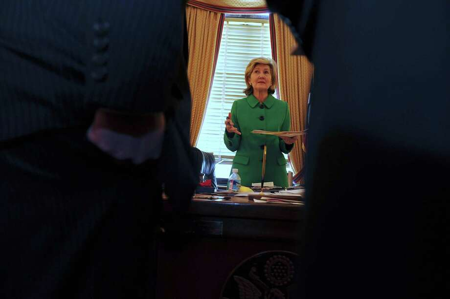U.S. Sen. Kay Bailey Hutchison has stayed true to her whirlwind reputation, going flat-out in the last weeks of her final term. Photo: Mary F. Calvert, FREELANCE PHOTOGRAPHER / © 2012 MARY F. CALVERT