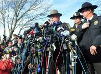 State Police spokesman J. Paul Vance speaks at a press conference about the mass shooting at Sandy Hook Elementary School Saturday, Dec.15, 2012 in Newtown.