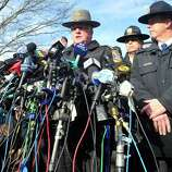 State Police spokesman J. Paul Vance speaks at a press conference about the mass shooting at Sandy Hook Elementary School Saturday, Dec. 15, 2012 in Newtown.